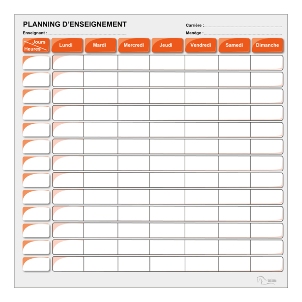 planning d'enseignement orange