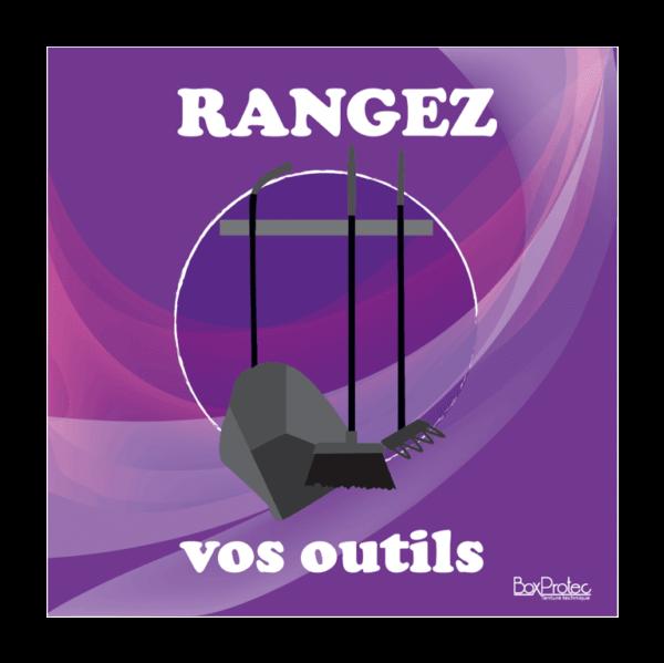 panneau rangez vos outils violet