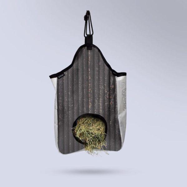 sac à foin à suspendre pour chevaux Collection zébré noir Boxprotec