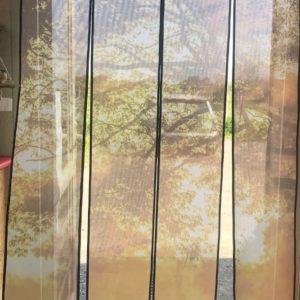 BOXPROTEC - moustiquaire / nature / chevaux sauvages / Mesh de porte / moustiquaire de porte / moustiquaire à lamelles / moustiquaire à personnaliser