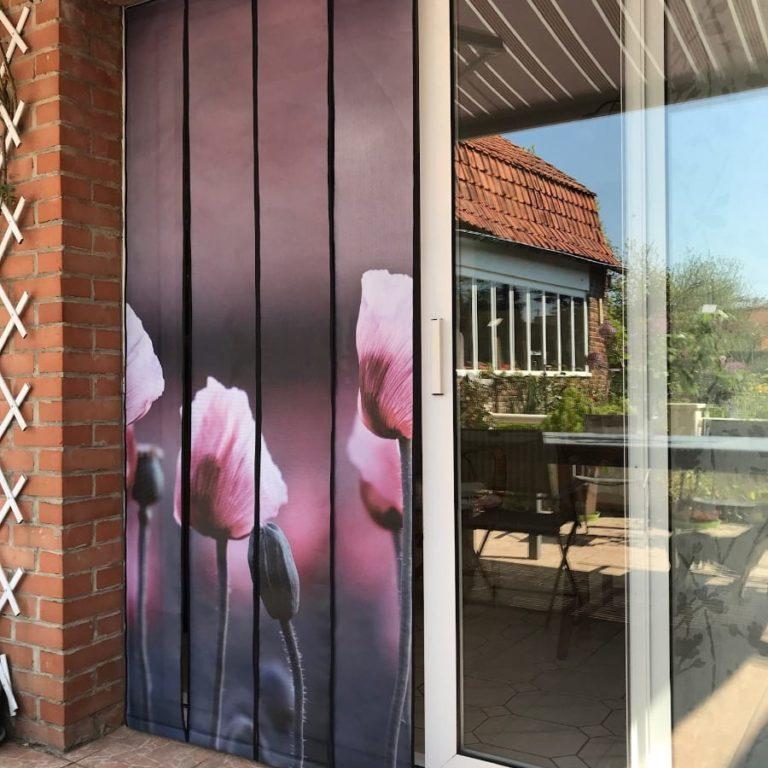 BOXPROTEC - moustiquaire / nature / fleurs / jardin / Mesh de porte / moustiquaire de porte / moustiquaire à lamelles / moustiquaire à personnaliser