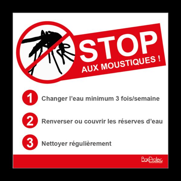 panneau conseil pour lutter contre les moustiques