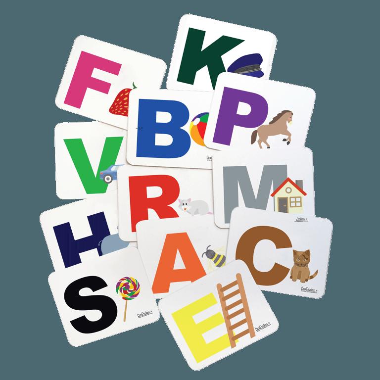 lot lettres de manège avec dessin pour enfant