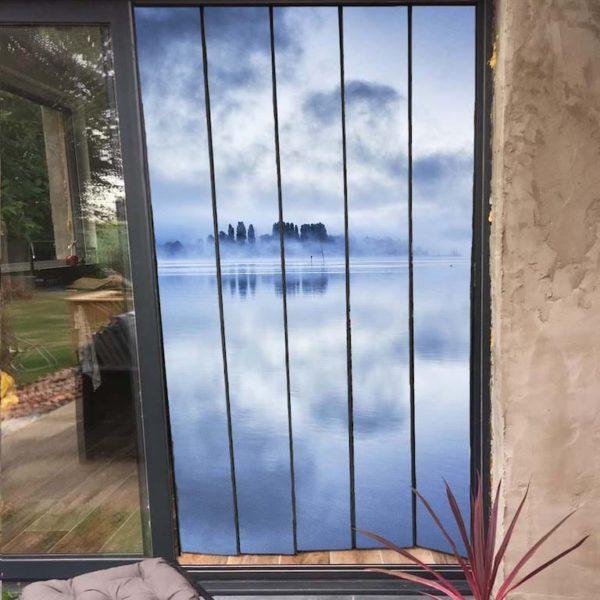 moustiquaire de baie vitrée micro aéré 125 x 230 cm