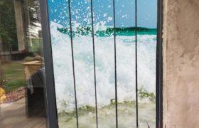 moustiquaire de porte à personnaliser 125 cm de large