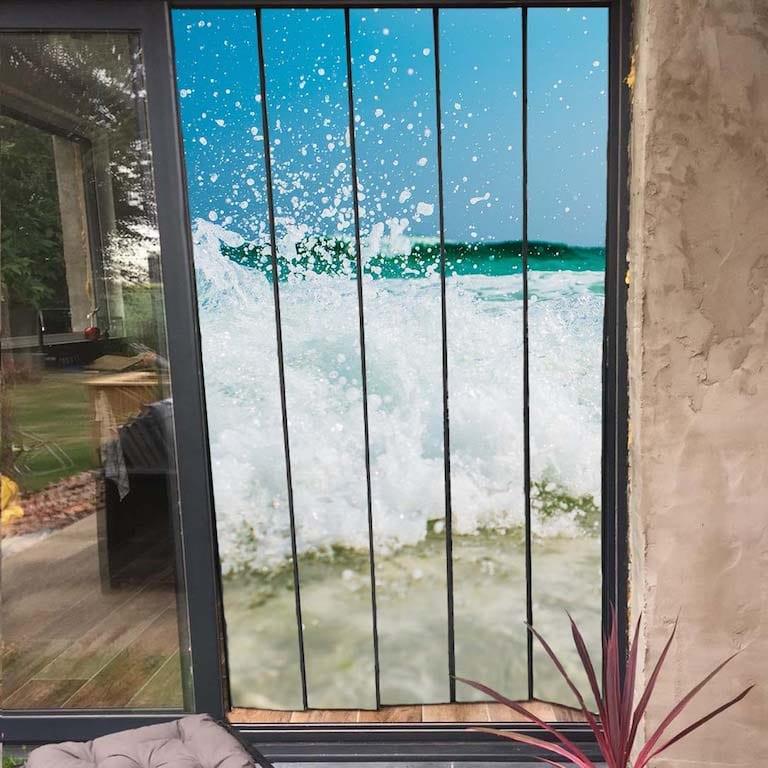 moustiquaire de baie vitrée à personnaliser 125x230 cm