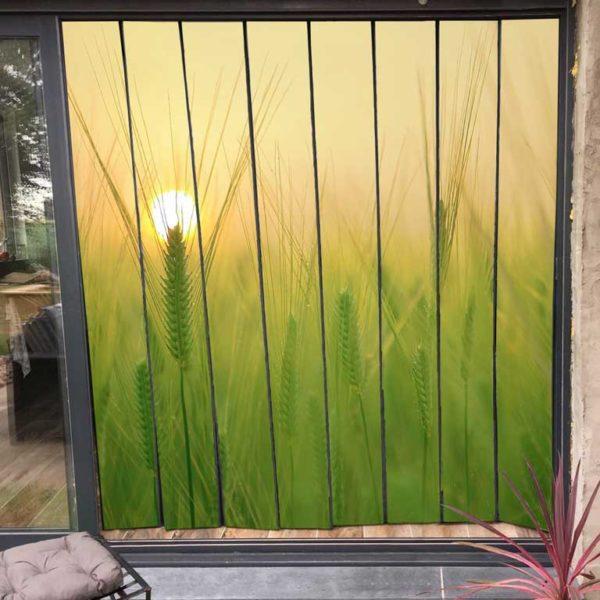 moustiquaire de baie vitrée motif champ de blé