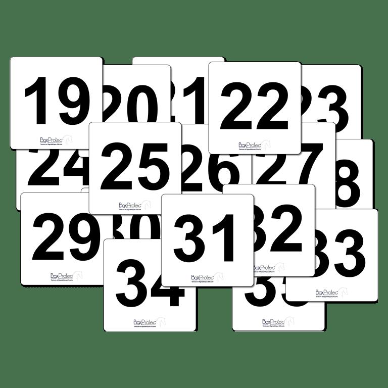 lot de panneau de numéro d'attelage
