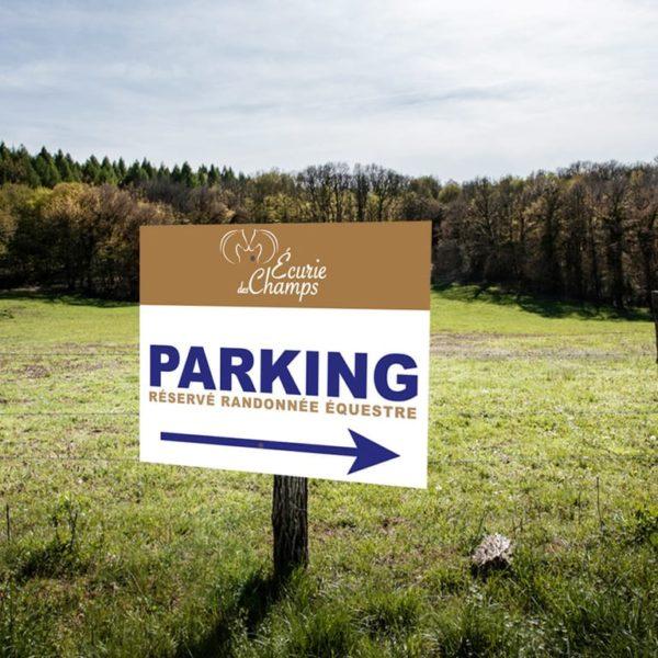 BOXPROTEC - Panneau de fléchage parking équestre