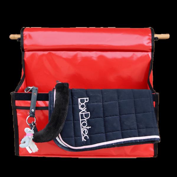 sac à bandes d'équitation rouge boxprotec