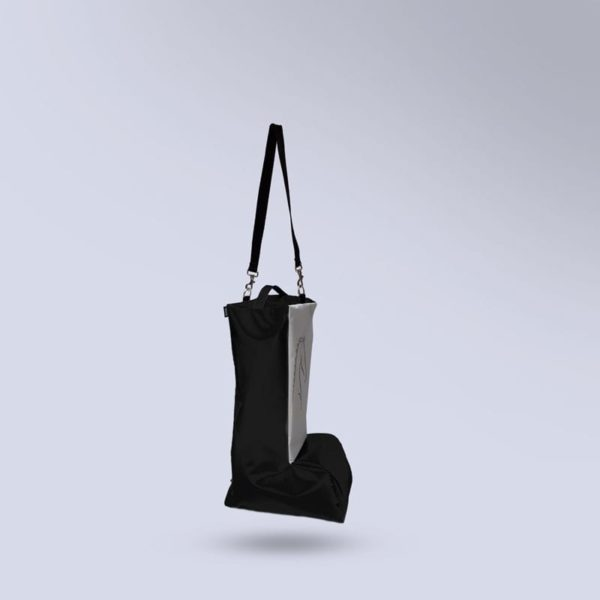 sac noir pour bottes d'équitation