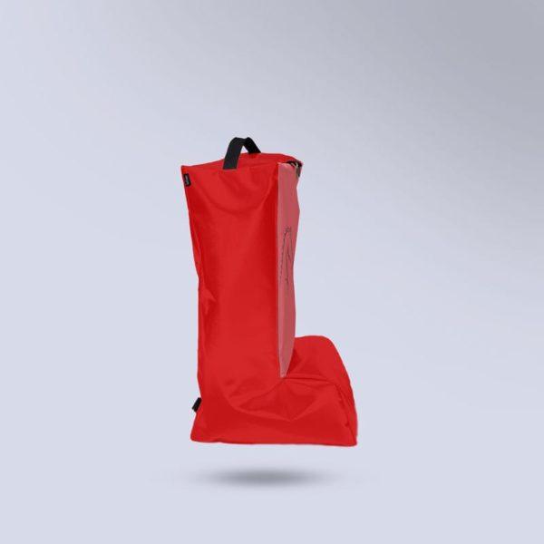 sac à bottes rouge équitation