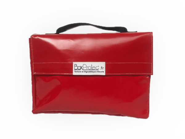 sac porte document rouge