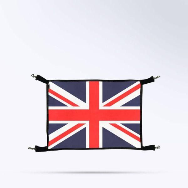 Porte de box pour chevaux avec le drapeau d'angleterre Boxprotec