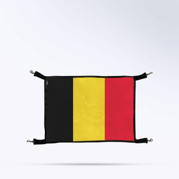 Porte de box pour chevaux avec le drapeau Belgique