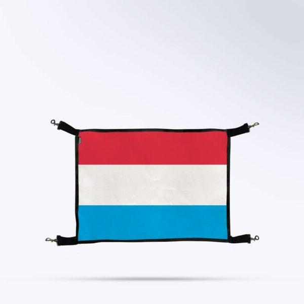 porte de box drapeau du Luxembourg pour écurie