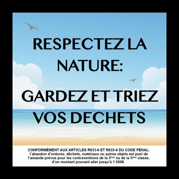 panneau respectez la nature