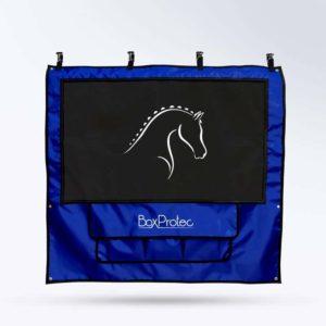 tenture de box PRO1 Boxprotec bleu et noir pour chevaux