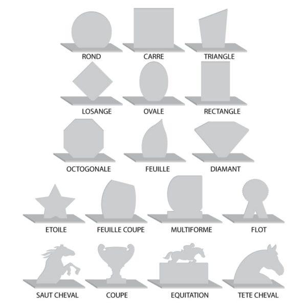 formes de trophée en plexi