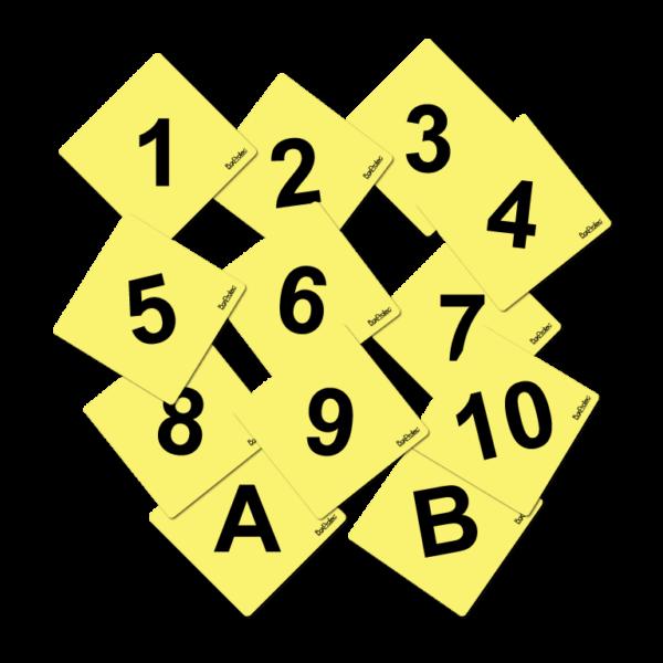 numéro de cross jaune