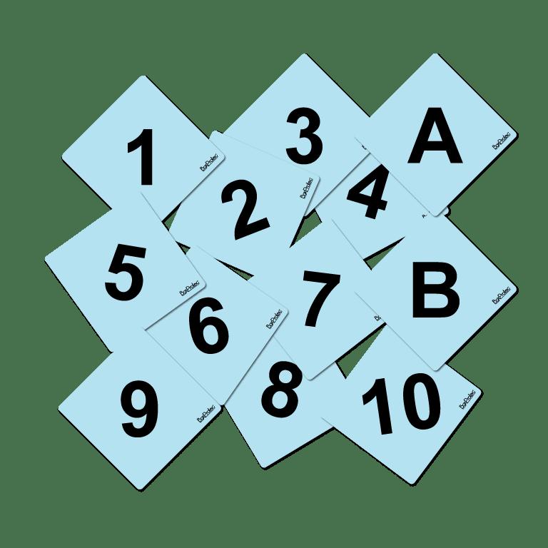 numéro et lettre d'obstacle de cross fond bleu
