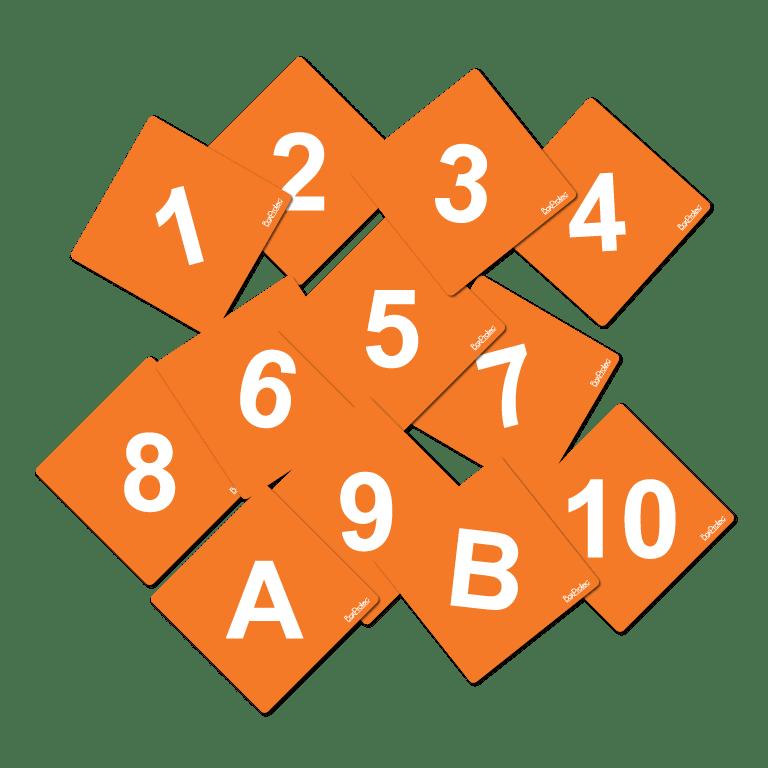 numéro et lettre d'obstacle de cross fond orange