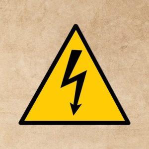 panneau attention danger électrique