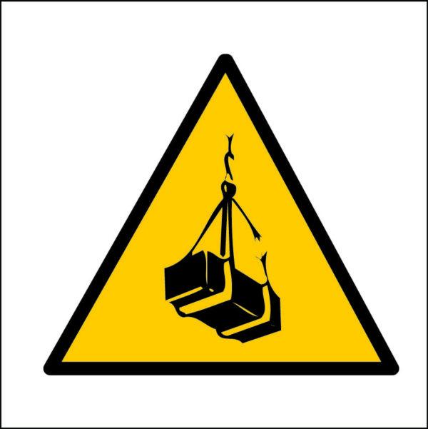 panneau danger charge suspendue format carré