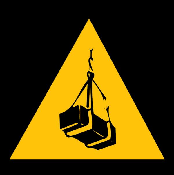 panneau danger charge suspendue format triangle