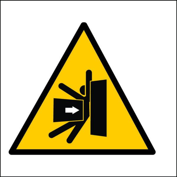 panneau danger d'écrasement format carré