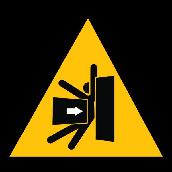 panneau danger d'écrasement format triangle