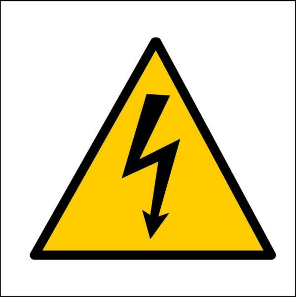 panneau danger électrique format carré