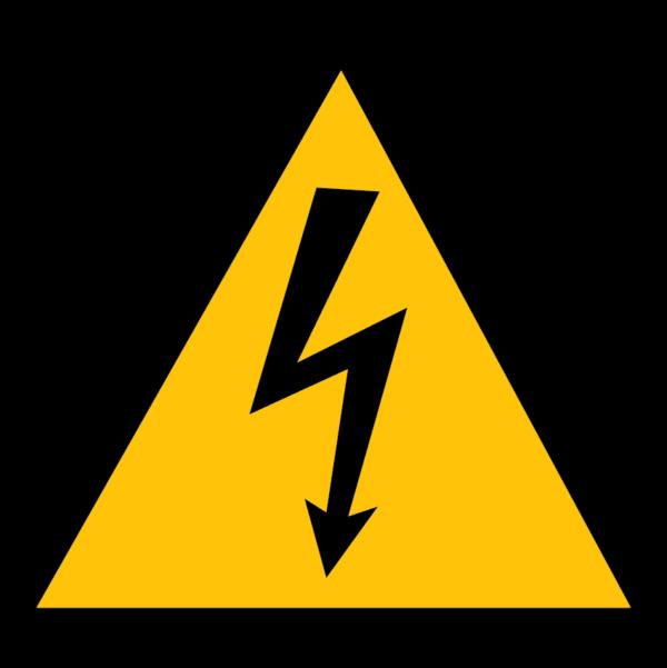 panneau danger électrique format triangle