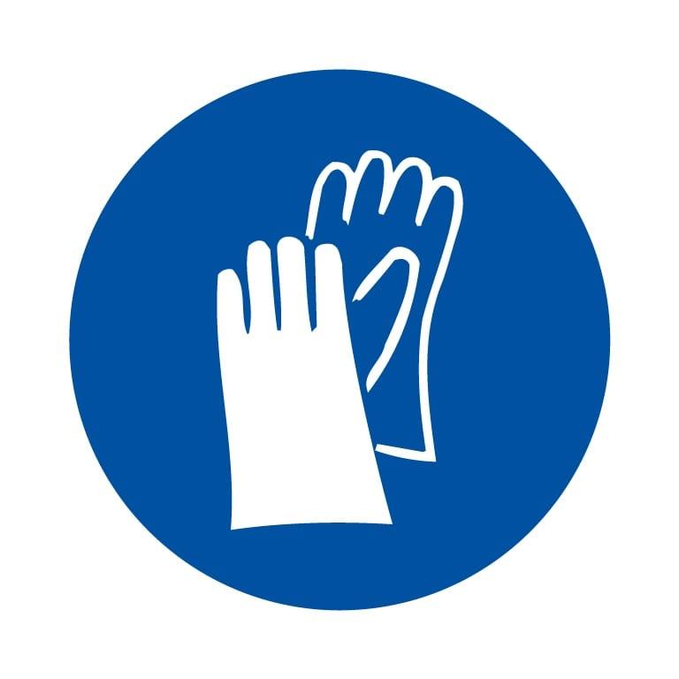 panneau protection des mains obligatoire format carré