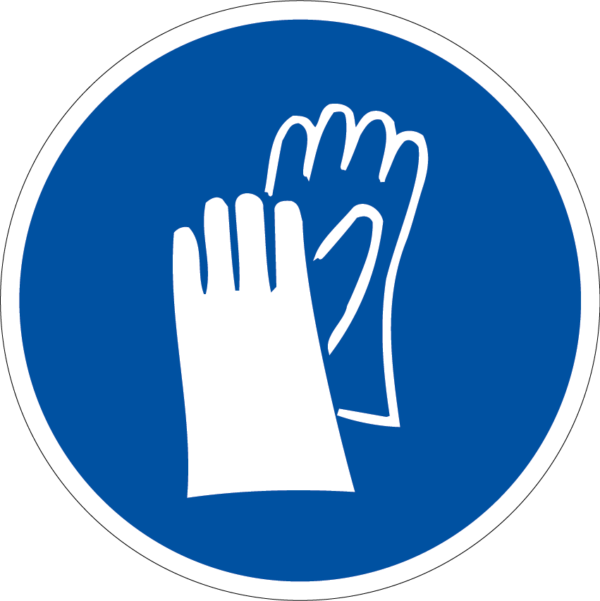 panneau protection des mains obligatoire format rond