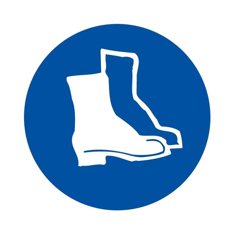 panneau protection des pieds obligatoire format carré