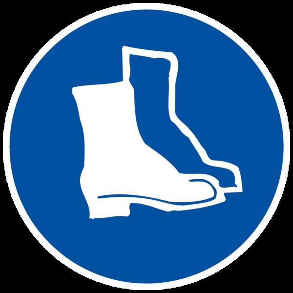 panneau protection des pieds obligatoire format rond