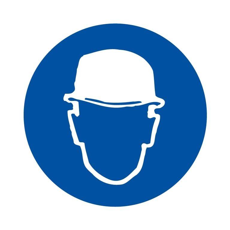 panneau protection de la tête obligatoire format carré