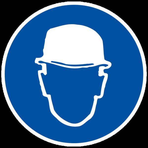 panneau protection de la tête obligatoire format rond