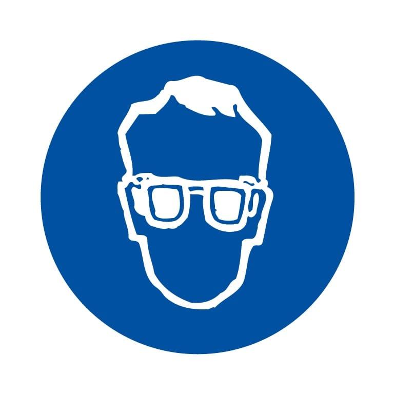 panneau protection des yeux obligatoire format carré