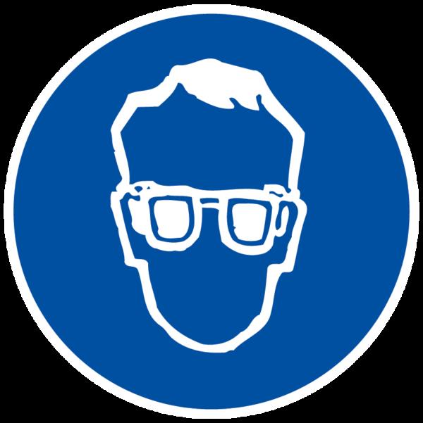 panneau protection des yeux obligatoire format rond