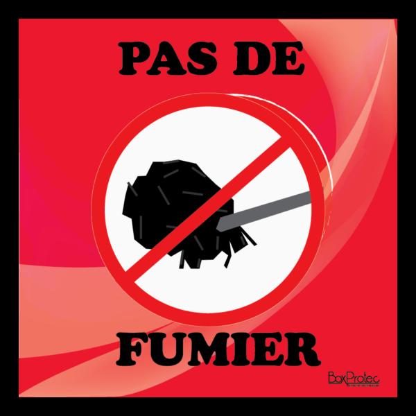 Panneau interdit au fumier rouge