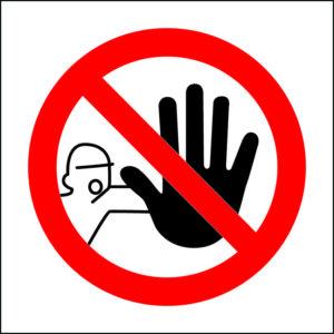 panneau interdiction d'entrée format carré
