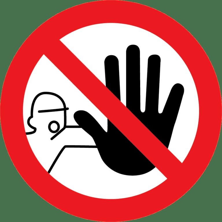panneau interdit d'entrée format rond