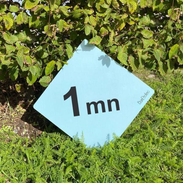 panneaux minutes pour les parcours de cross