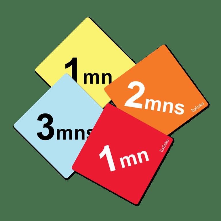 panneau minutes pour les obstacles de cross