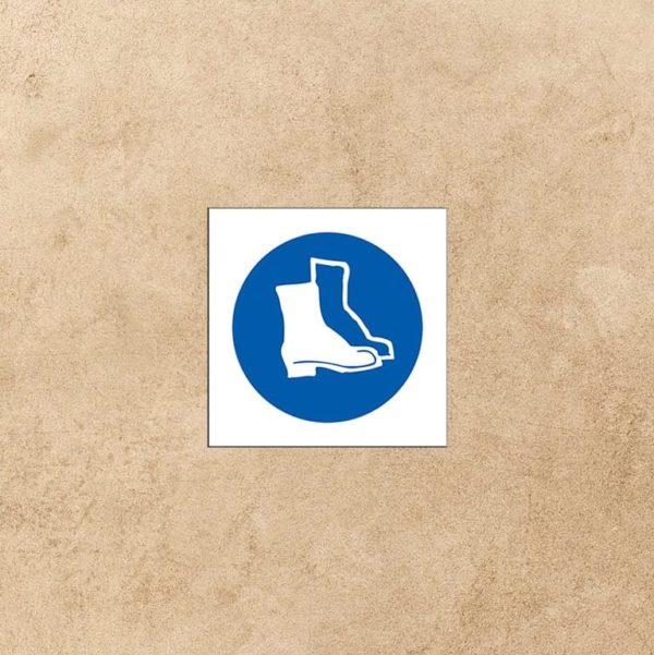 panneau protection pied obligatoire
