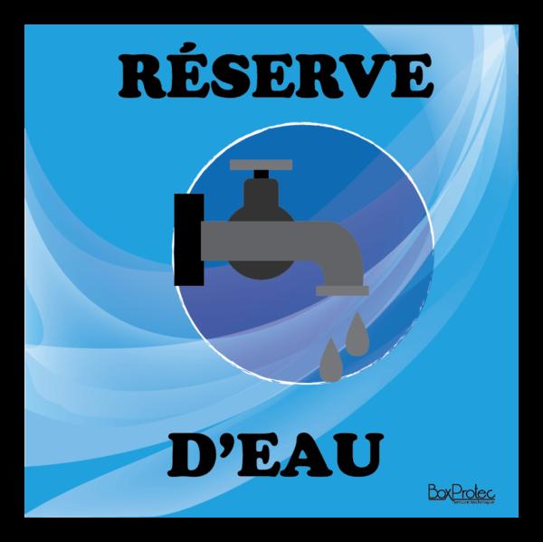 panneau réserve d'eau bleu