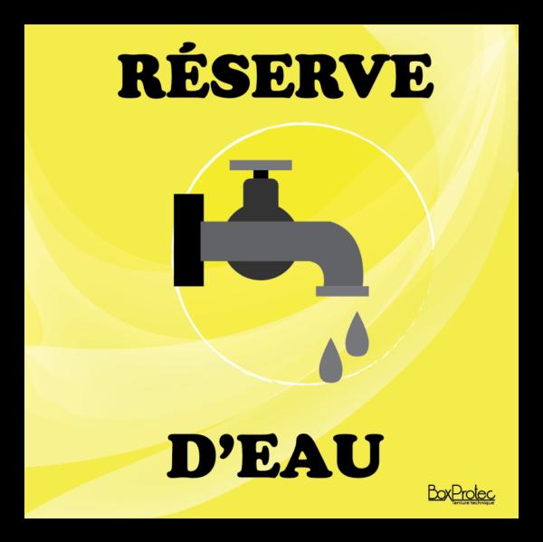 panneau réserve d'eau jaune