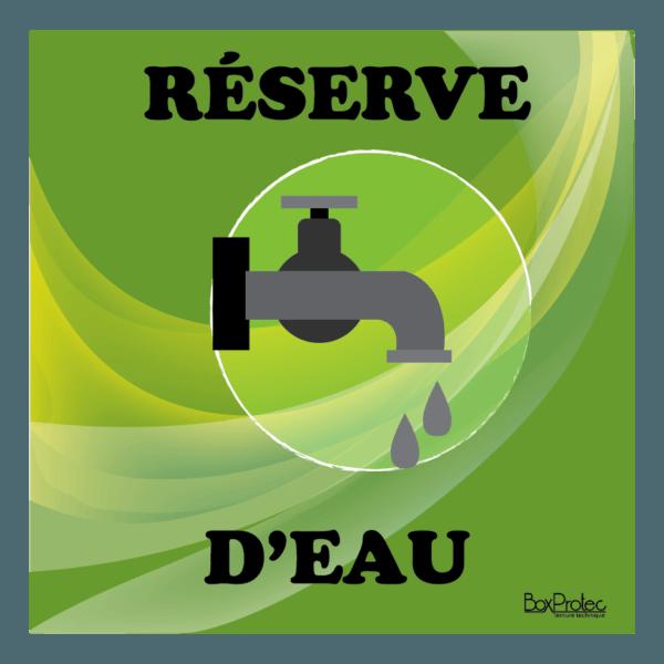 panneau réserve d'eau vert